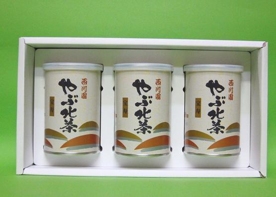 やぶ北茶 宝寿 3缶詰合せ