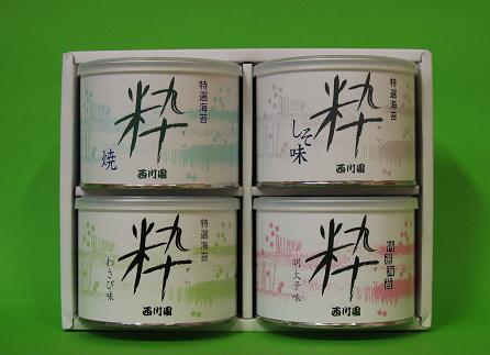 特選海苔粋4缶詰合せ