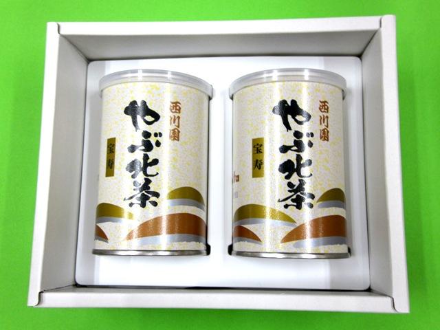 やぶ北茶 宝寿 2缶詰合せ
